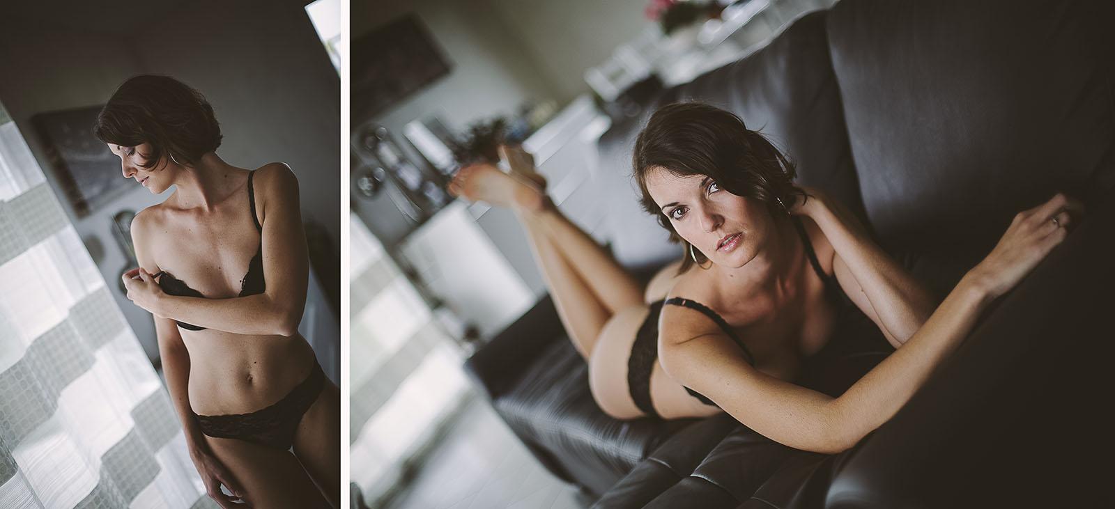 Reprendre confiance grâce à la photo Marie, belle femme pendant une séance photo en lingerie. Blueberry corner photographe professionnel à Lyon et Clermont ferrand spécialisé dans la photo de charme, photo glamour et boudoir