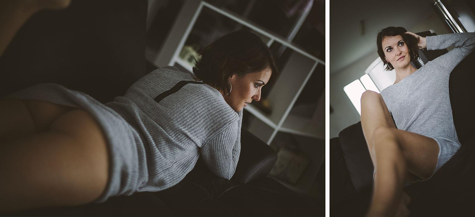 Reprendre confiance grâce à la photo Marie portrait d'une femme sensuelle. Blueberry corner photographe professionnel à Lyon et Clermont ferrand spécialisé dans la photo de charme, photo glamour et boudoir